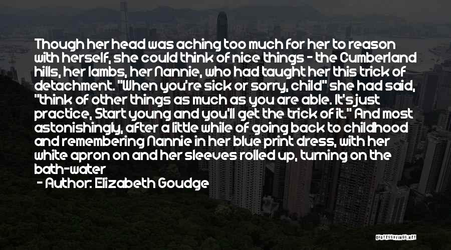 When You Think Too Much Quotes By Elizabeth Goudge