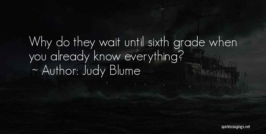 When You Wait Quotes By Judy Blume