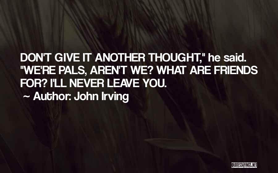 When Your Best Friends Leave You Out Quotes By John Irving
