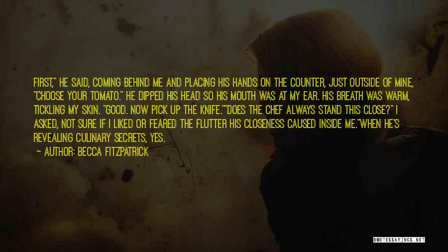 When Your Not Sure Quotes By Becca Fitzpatrick