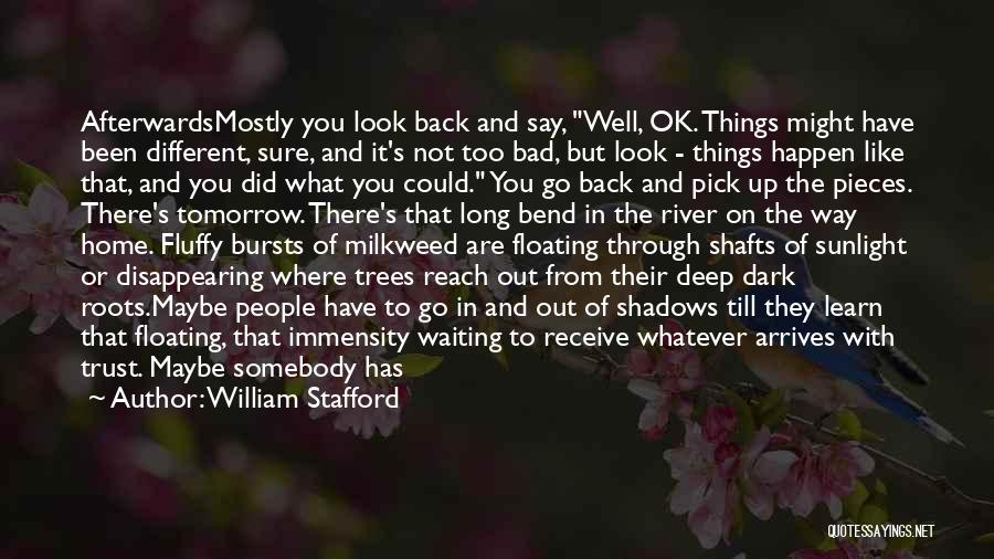 When Your Not Sure Quotes By William Stafford