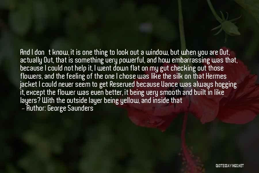 When You're Feeling Down And Out Quotes By George Saunders