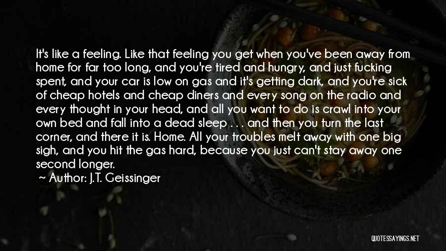 When You're Feeling Sick Quotes By J.T. Geissinger