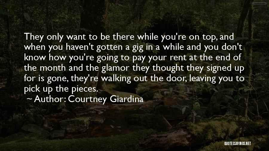 When You're Gone Love Quotes By Courtney Giardina