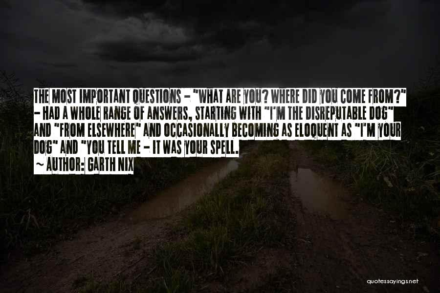 Where Did You Come From Quotes By Garth Nix