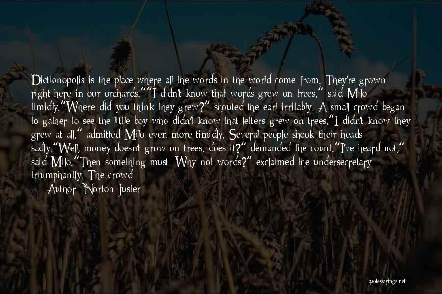 Where Did You Come From Quotes By Norton Juster