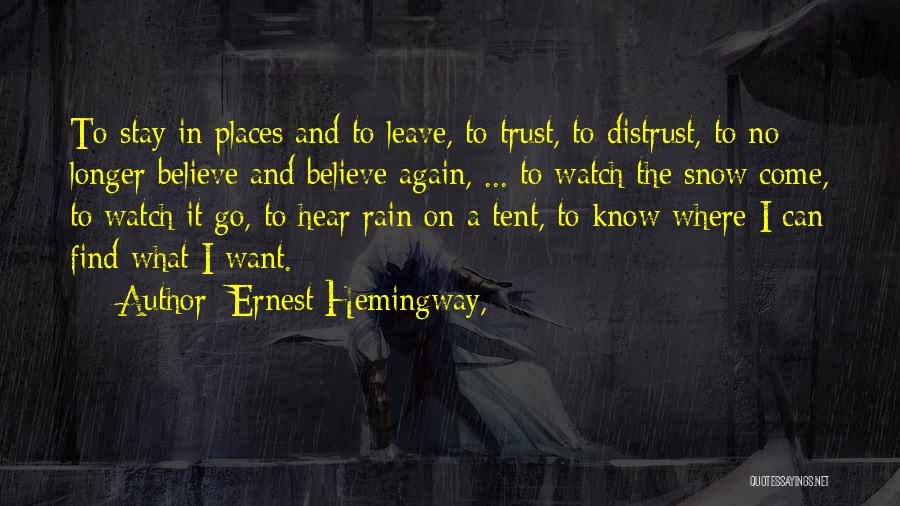 Where To Go Quotes By Ernest Hemingway,