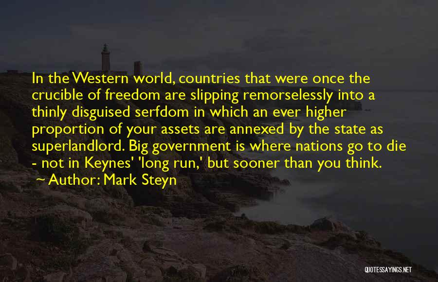 Where To Go Quotes By Mark Steyn