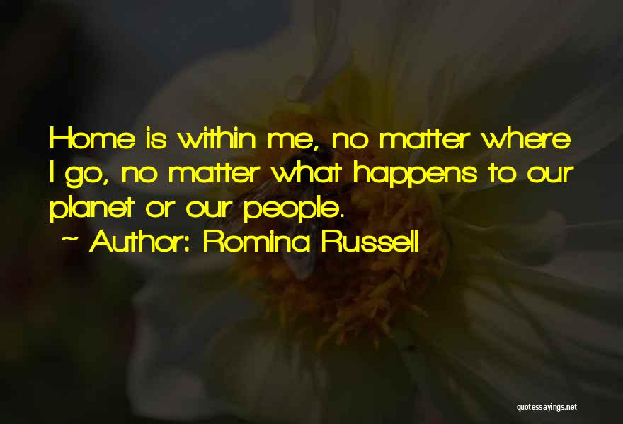 Where To Go Quotes By Romina Russell