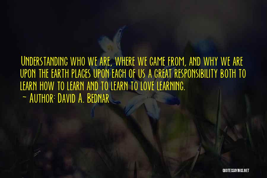 Where We Came From Quotes By David A. Bednar