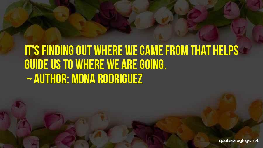 Where We Came From Quotes By Mona Rodriguez