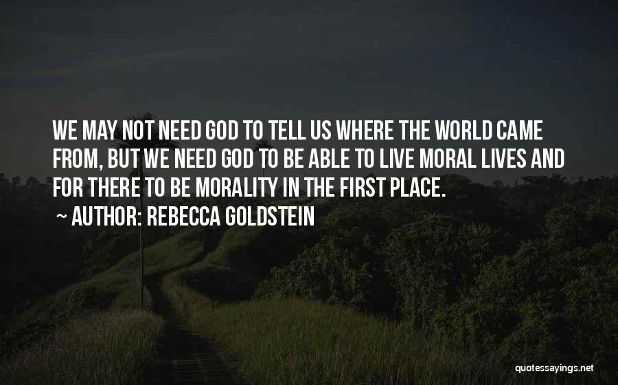 Where We Came From Quotes By Rebecca Goldstein