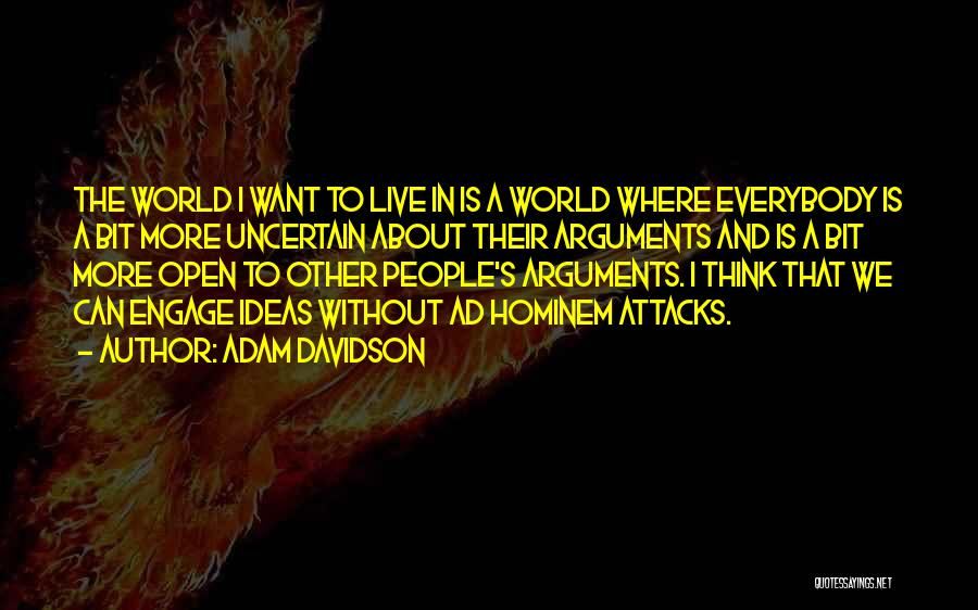 Where We Live Quotes By Adam Davidson