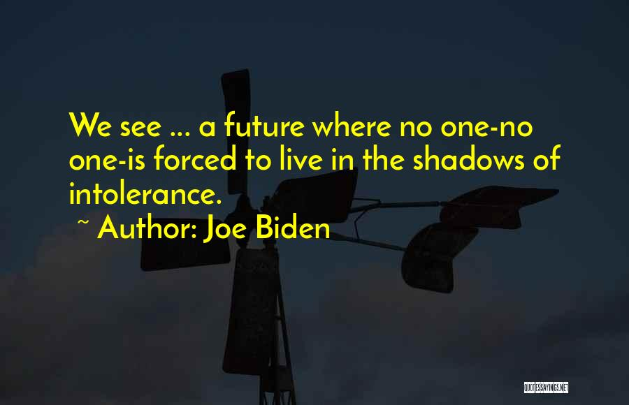 Where We Live Quotes By Joe Biden