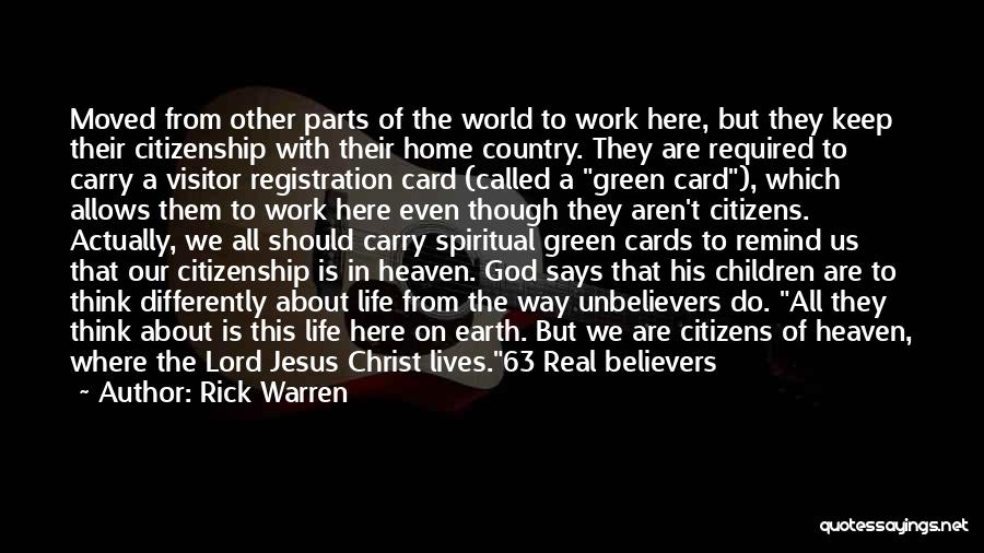 Where We Live Quotes By Rick Warren