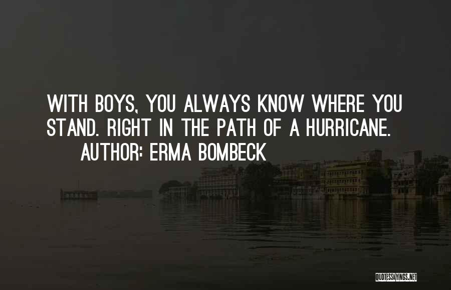 Where You Stand Quotes By Erma Bombeck