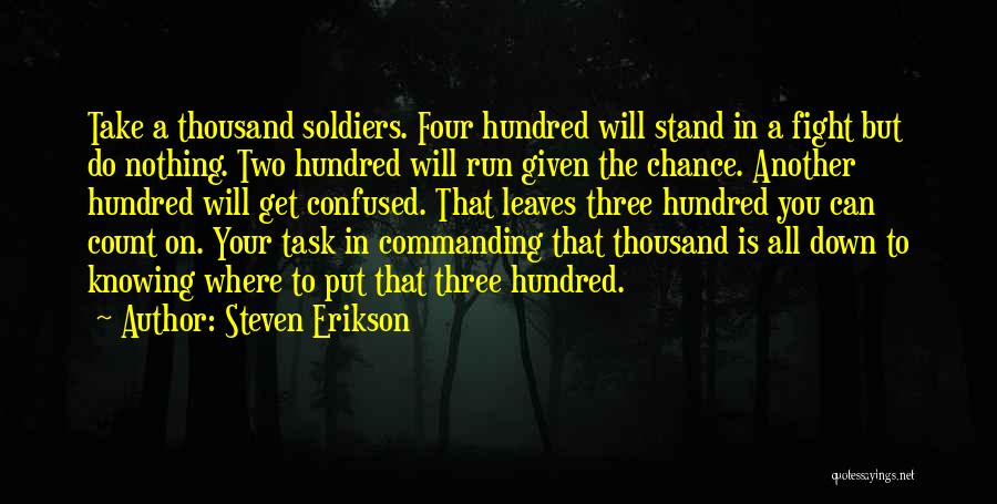 Where You Stand Quotes By Steven Erikson