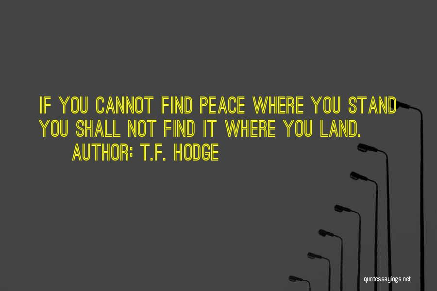 Where You Stand Quotes By T.F. Hodge