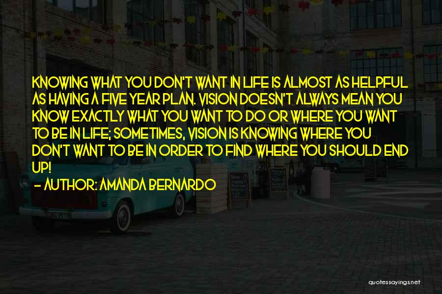 Where You Want To Be In Life Quotes By Amanda Bernardo