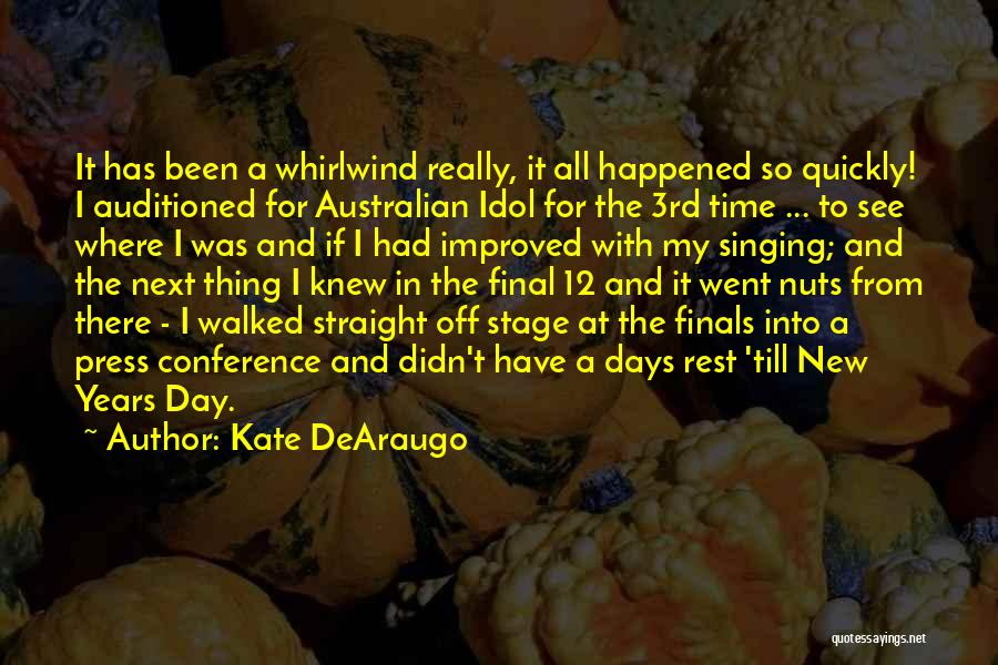Whirlwind Quotes By Kate DeAraugo