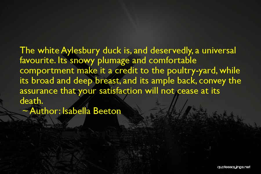 White Duck Quotes By Isabella Beeton