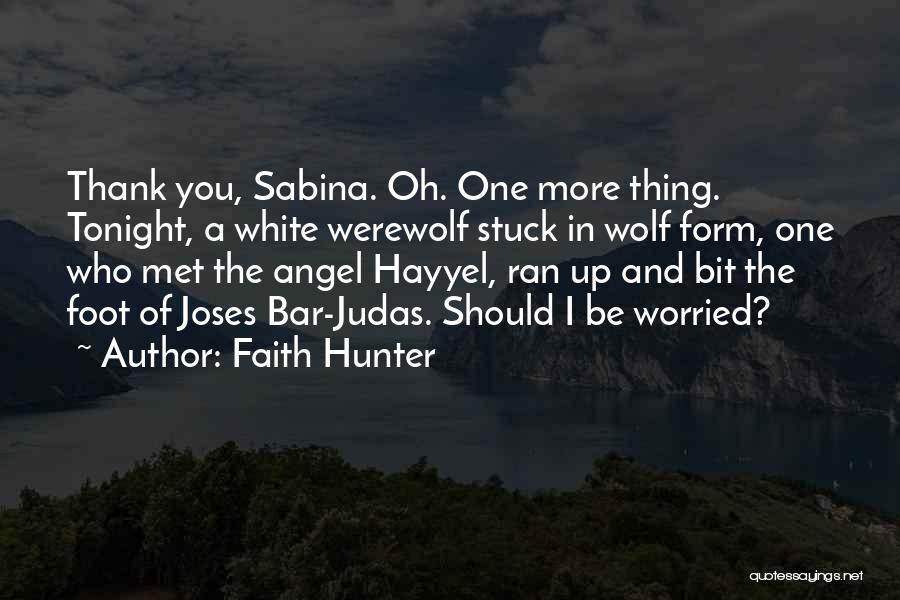 White Wolf Quotes By Faith Hunter