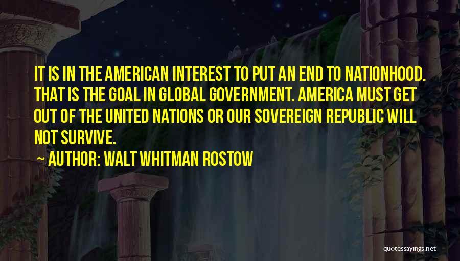 Whitman Walt Quotes By Walt Whitman Rostow