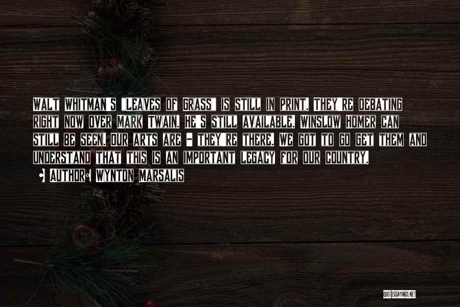 Whitman Walt Quotes By Wynton Marsalis