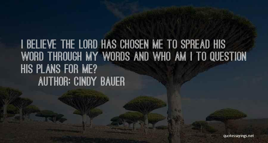 Who Am I Quotes By Cindy Bauer