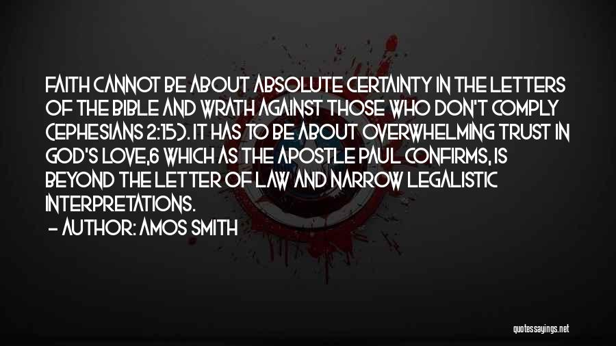 Who God Is Quotes By Amos Smith