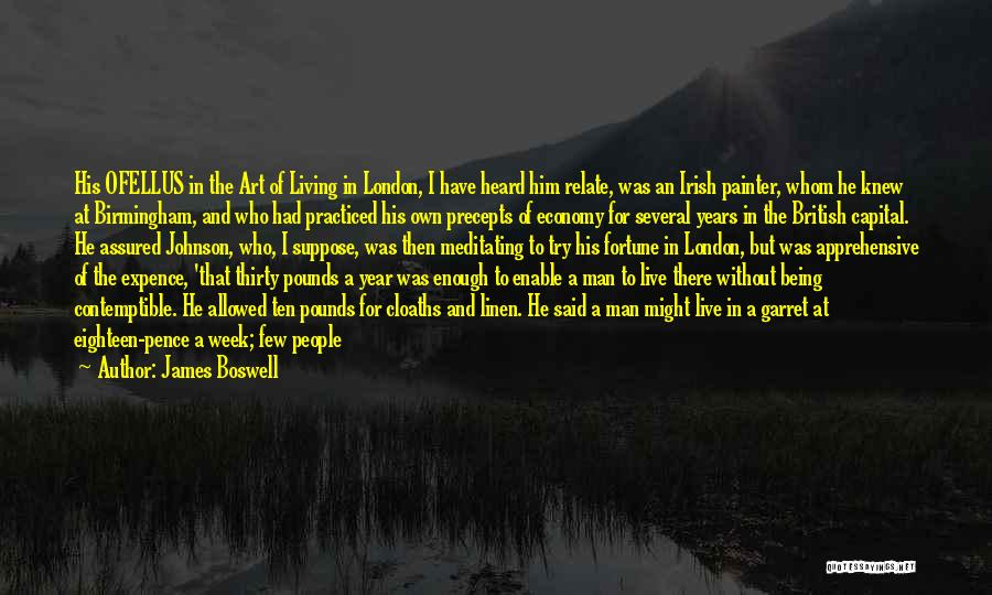 Who Irish Quotes By James Boswell