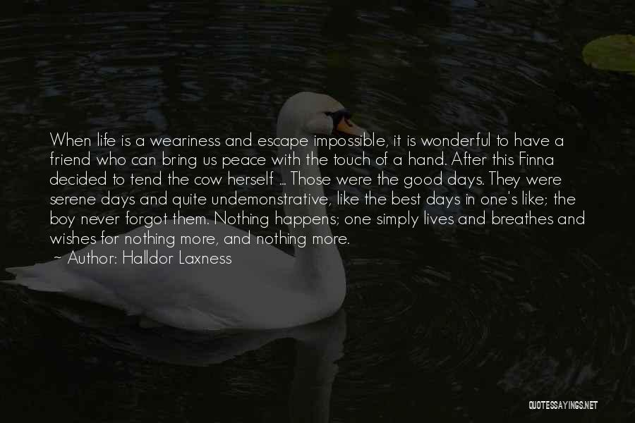 Who Is Best Friend Quotes By Halldor Laxness