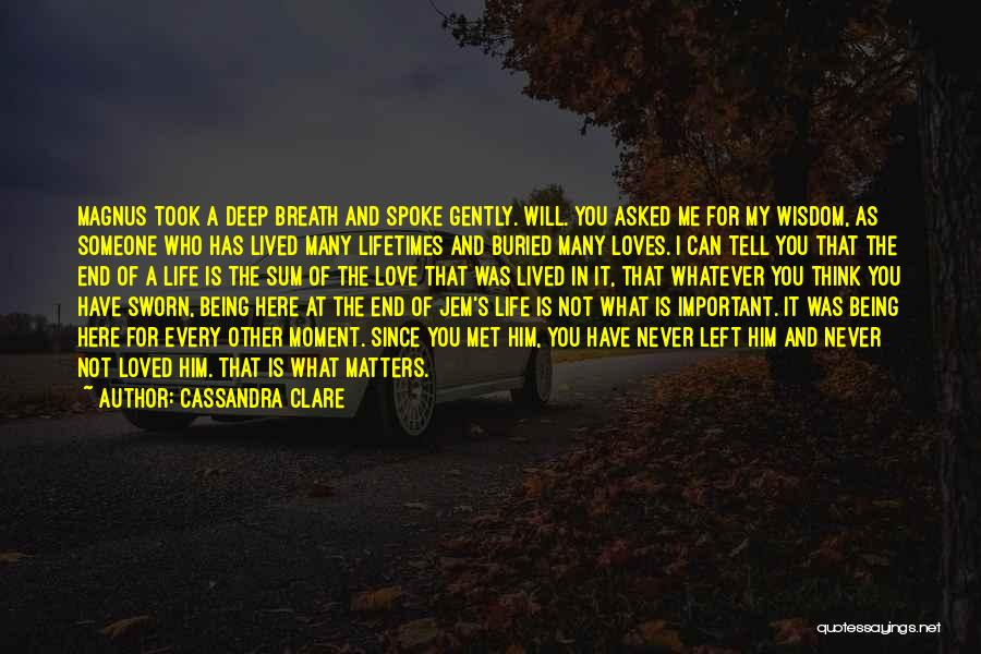 Who Left Me Quotes By Cassandra Clare