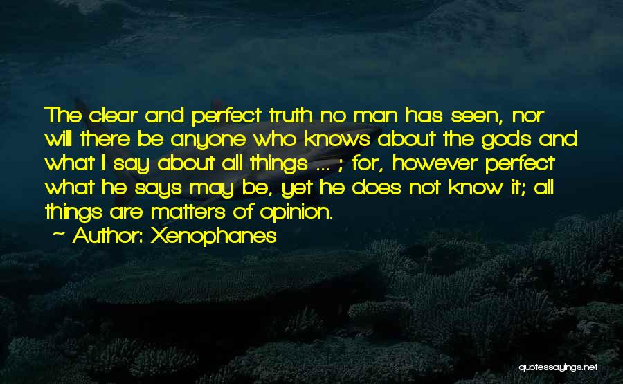 Who Says You Are Not Perfect Quotes By Xenophanes