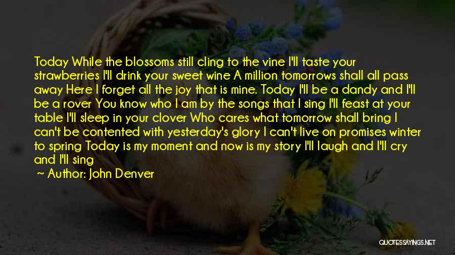 Who Song Quotes By John Denver
