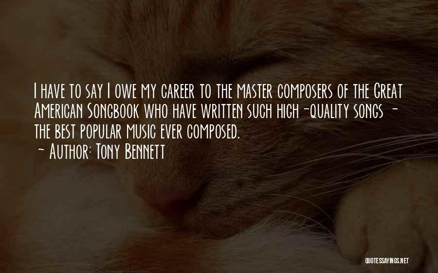 Who Song Quotes By Tony Bennett