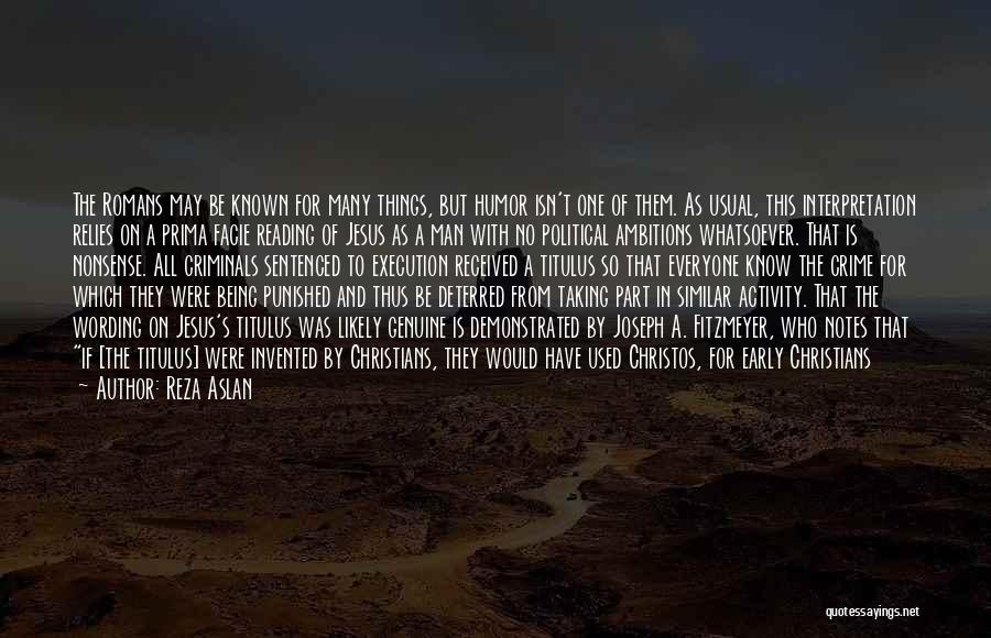 Who Would Have Known Quotes By Reza Aslan