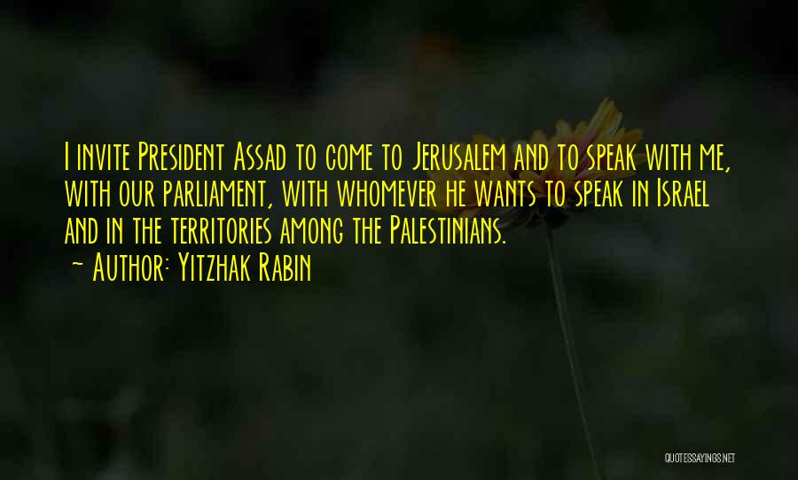 Whomever Quotes By Yitzhak Rabin