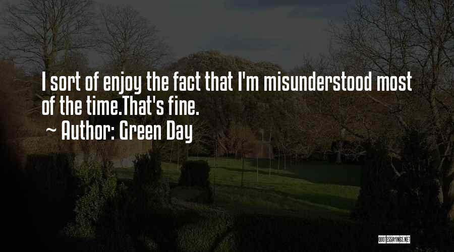 Why Am I Misunderstood Quotes By Green Day