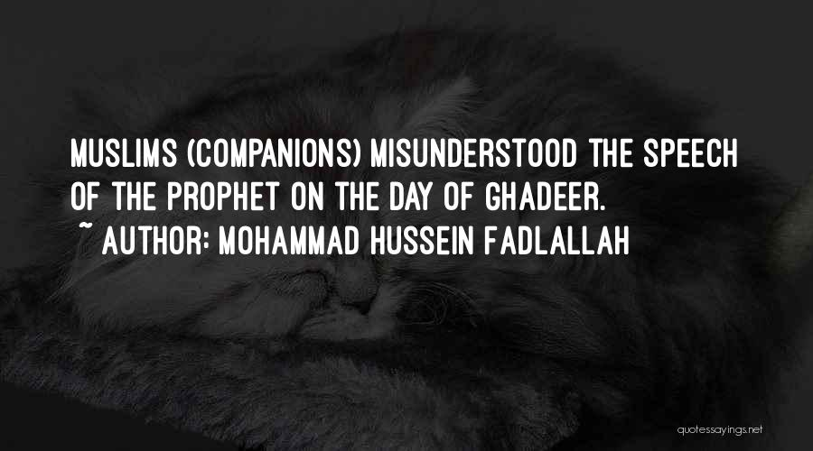 Why Am I Misunderstood Quotes By Mohammad Hussein Fadlallah