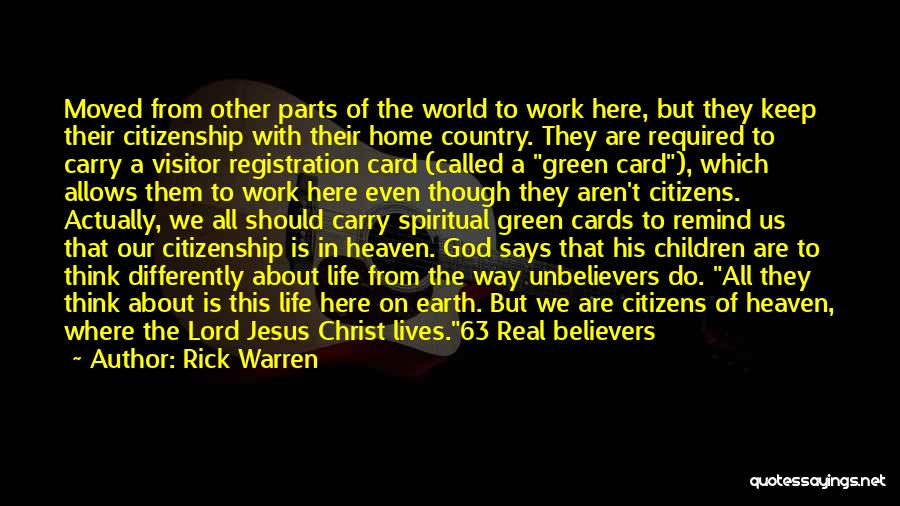 Why Are We Here On Earth Quotes By Rick Warren