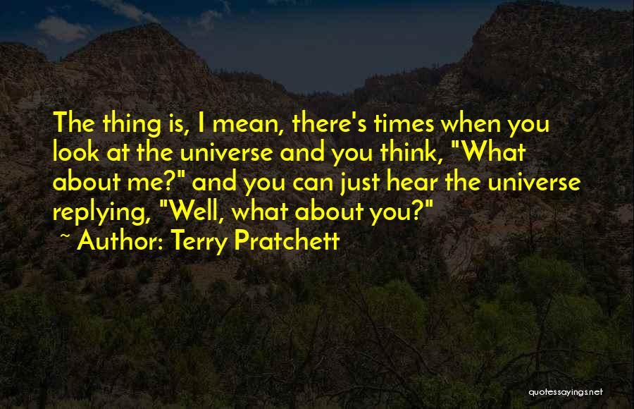 Why Are You Not Replying Quotes By Terry Pratchett