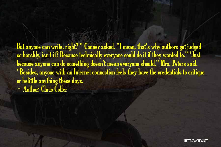 Why Authors Write Quotes By Chris Colfer