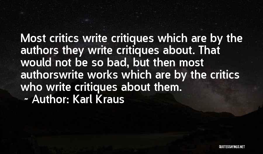 Why Authors Write Quotes By Karl Kraus