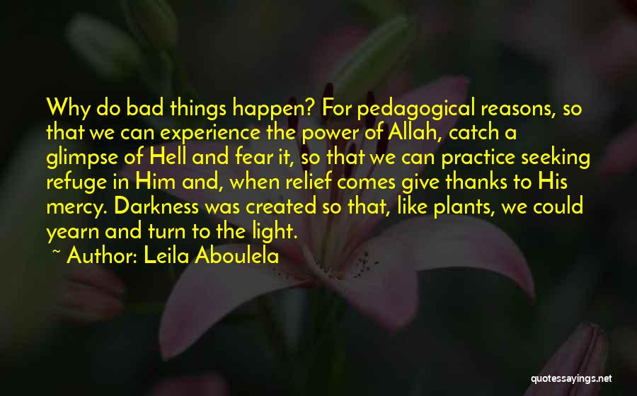 Why Bad Things Happen Quotes By Leila Aboulela