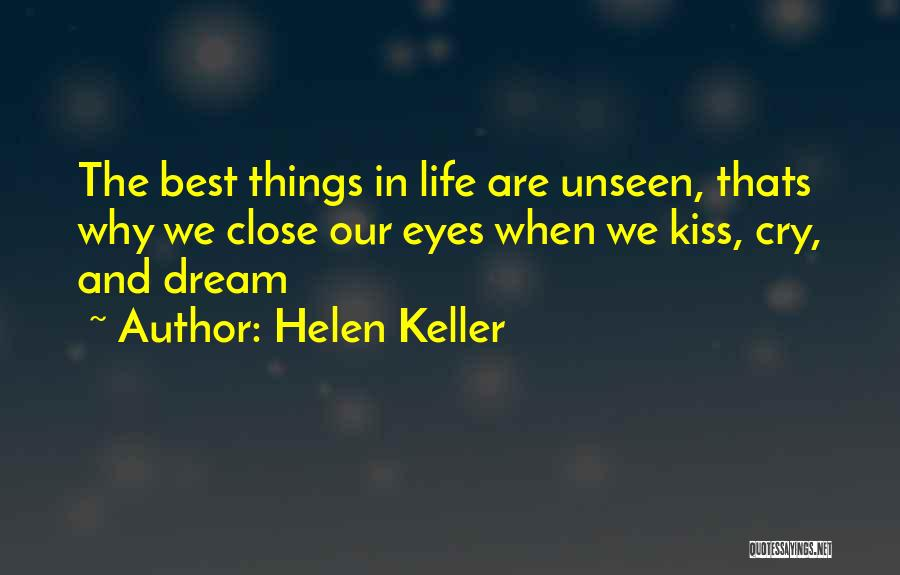 Why Cry Quotes By Helen Keller