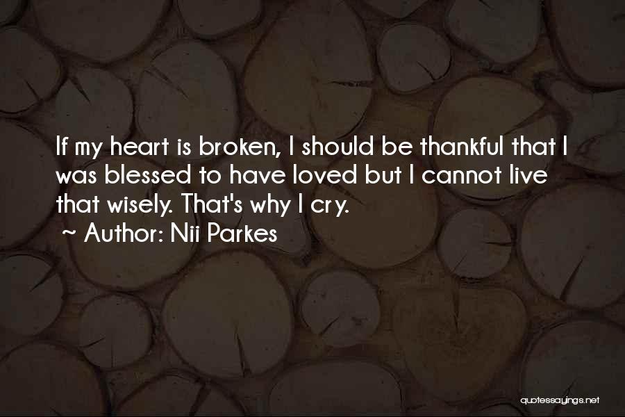 Why Cry Quotes By Nii Parkes