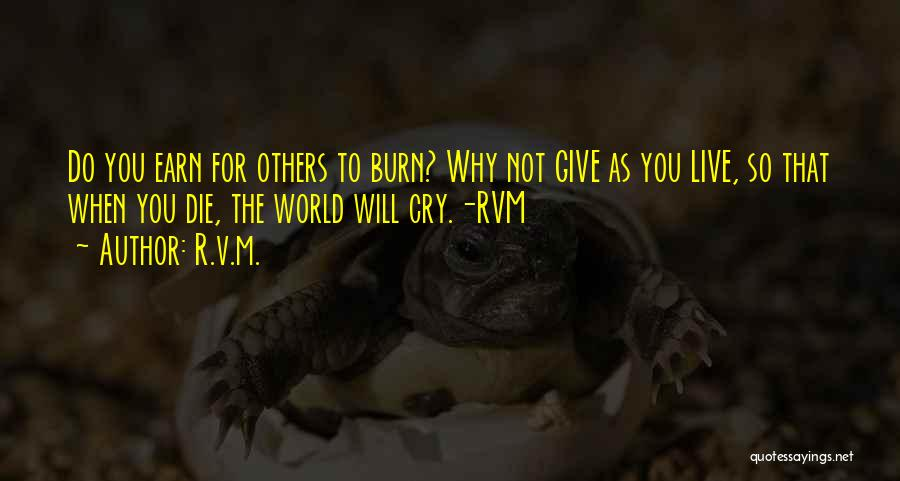 Why Cry Quotes By R.v.m.