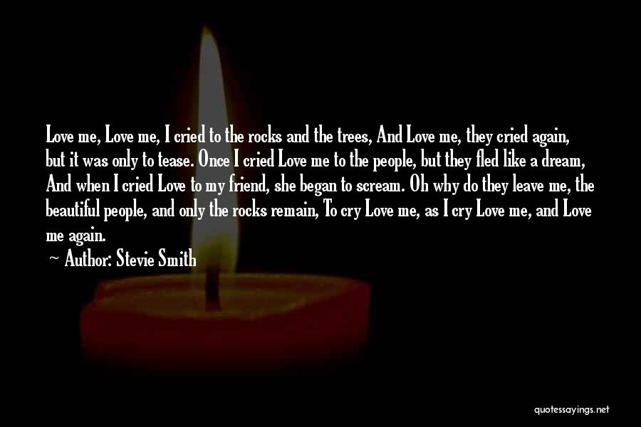 Why Cry Quotes By Stevie Smith