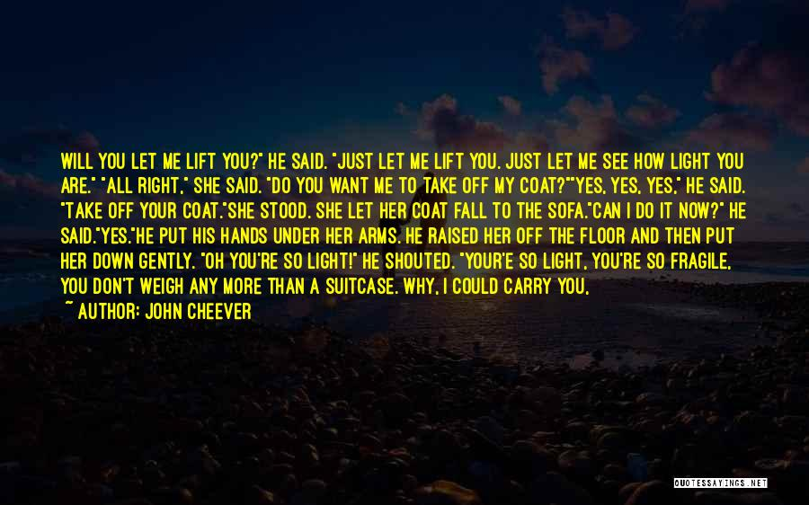 Why Do You Put Me Down Quotes By John Cheever